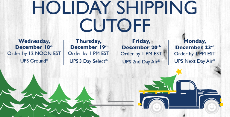 Shipping Cut offs